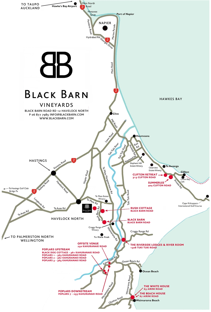 Black Barn Area Map